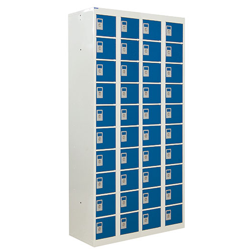 Personal Effects Lockers with Germ Guard - 40 Doors - 1800x900x380mm