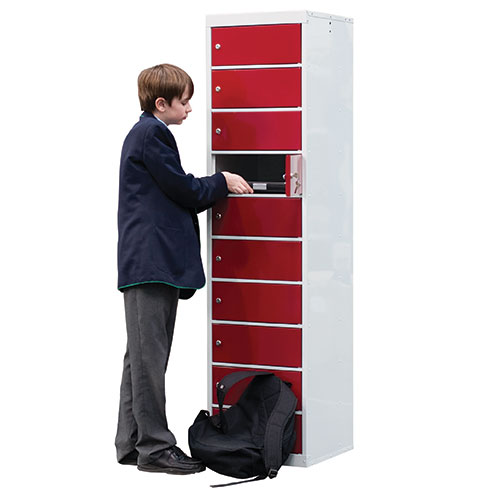 Laptop Lockers - 10 Doors - 1800x450x450mm