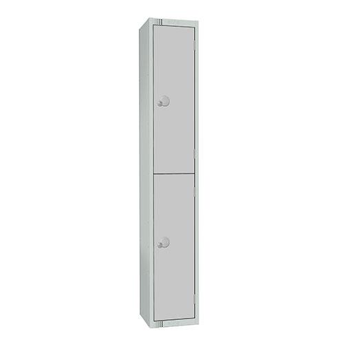2 Door Antibac Locker 1800x300x450mm Cylinder Lock