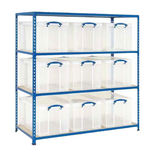 Really Useful™ Box Bays with 84 Litre Clear Boxes