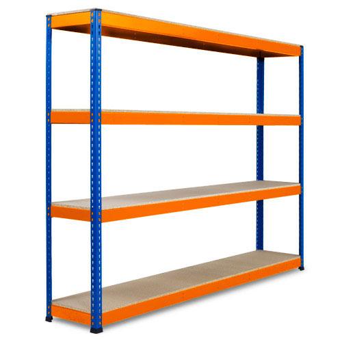 Extra Heavy Duty Shelving - 2440x2440mm Blue and Orange