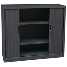 Charcoal Tambour Cupboards