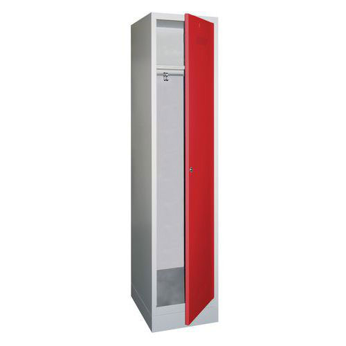 Single Locker with Plinth - Cylinder Lock - 1850x330x500mm