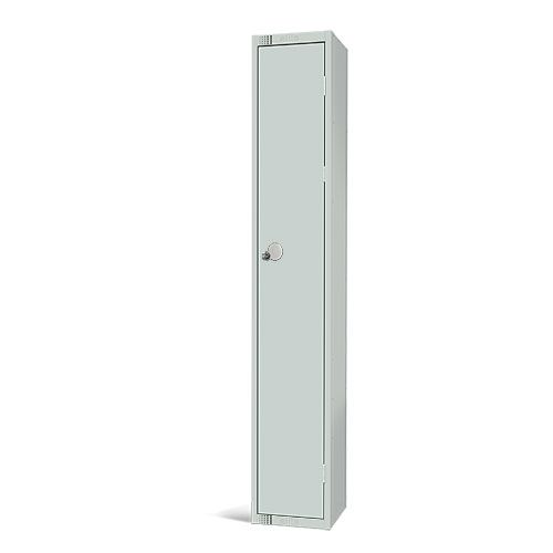 Elite Antibacterial Lockers - Single Door - Flat Top & Hasp Lock - 1800x450x450mm