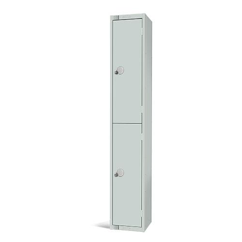 Elite Antibacterial Lockers - 2 Door - Flat Top & Hasp Lock - 1800x450x450mm