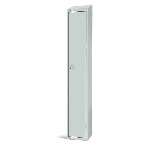 Elite Antibacterial Lockers - Single Door - Sloping Top & Cylinder Lock - 1950x450x450mm