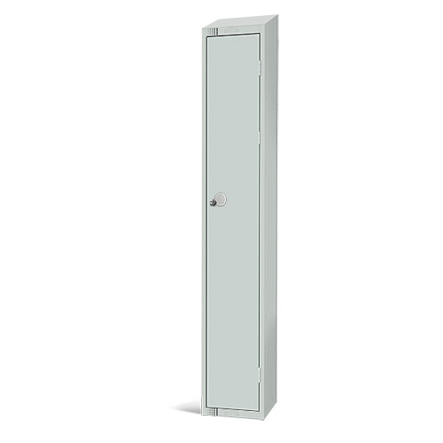 Elite Antibacterial Lockers - Single Door - Sloping Top & Hasp Lock - 1950x300x450mm