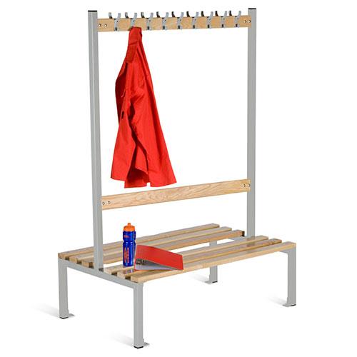 School Double Sided 9 Hook Bench Seat