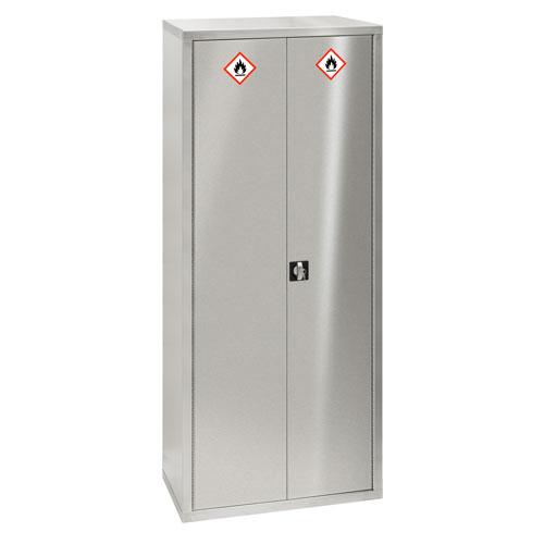 Stainless Steel Secure Hazardous Storage Cabinet 880x450mm