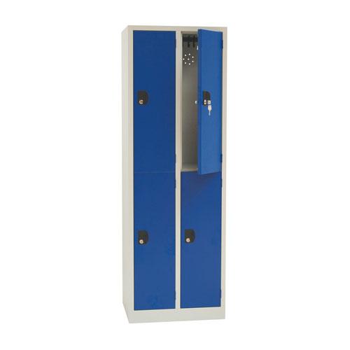 Manutan Nest of 2 Two Door Lockers - 1800x600x500mm