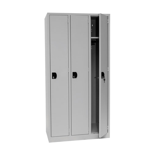 Manutan Nest of 3 Single Door Lockers - 1800x885x500mm