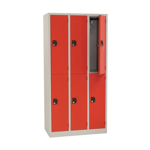 Manutan Nest of 3 Two Door Lockers - 1800x885x500mm