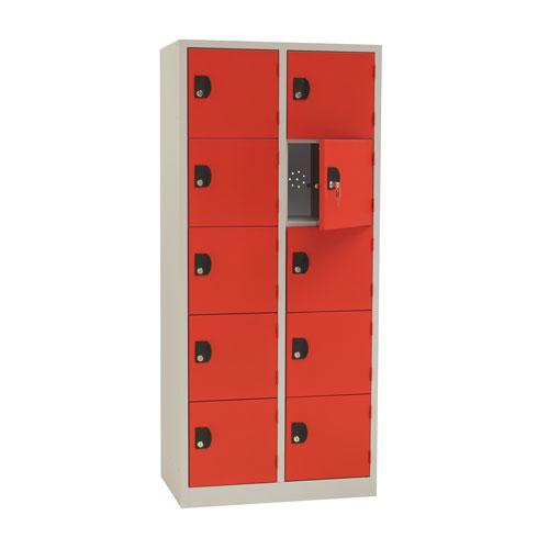 Manutan Nest of 2 Five Door Lockers - 1800x800x500mm