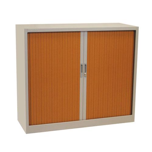 Manutan Grey Tambour Door Cupboard - 1050x1200x450mm