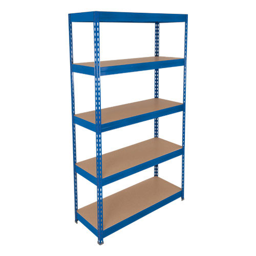 Rapid 3 Blue Shelving With 5 Chipboard Shelves HxW 1800x1500mm