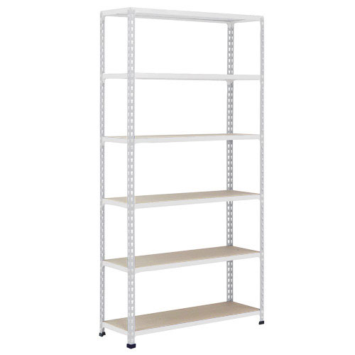 Rapid 2 Grey Shelving HxW 1980x915mm With 6 Chipboard Shelves
