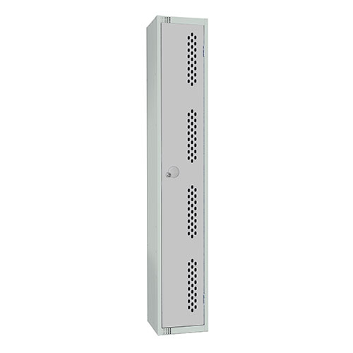 1 Door Perforated Locker 1830x300x300mm Cylinder Lock