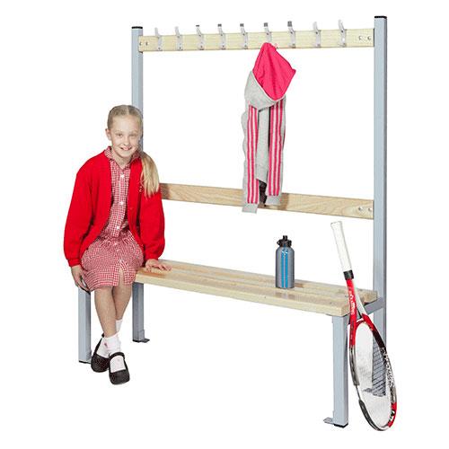 School Single Sided 9 Hook Bench Seat