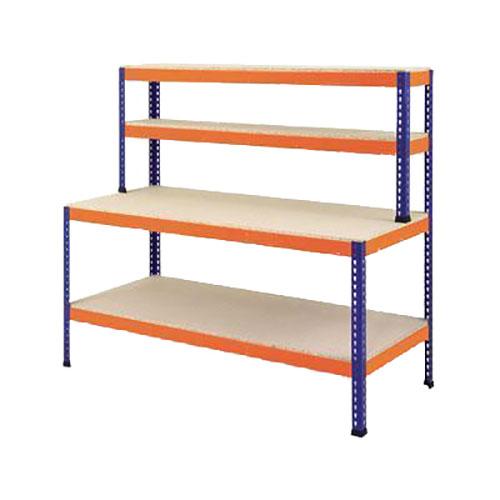 Boltless Workbench - 300kg UDL 1675mm High & 3 Shelves
