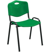 Green Plastic Stacking Conference Chairs