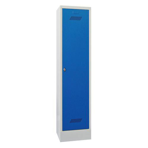Single Locker with Plinth - Hasp Lock - 1850x330x500mm