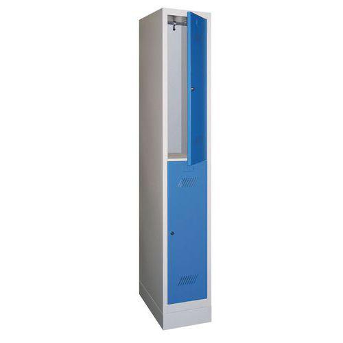 Locker with Plinth & 2 Doors - Hasp Lock - 1850x330x500mm