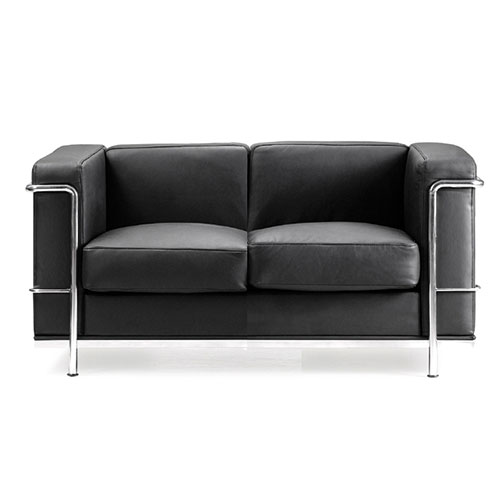 Belmont Leather Faced Sofa
