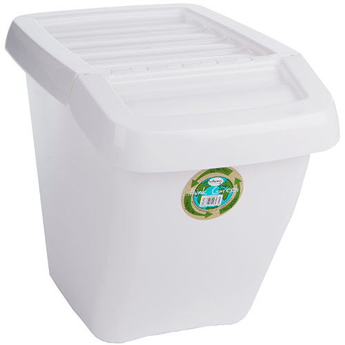 Wham Plastic Storage Boxes With Hinged Lids 50l Key