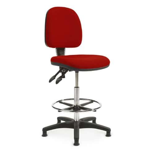 verco draughtsman chair fabric industrial chair key