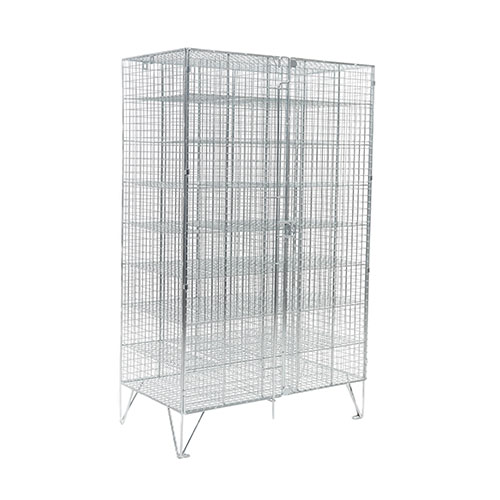 Wire Mesh Lockers 40 Compartments with Doors - 1370x830x457mm