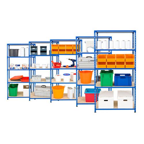 5 Bays of Medium Duty Shelving - 5 Shelves (1830h x 915w)