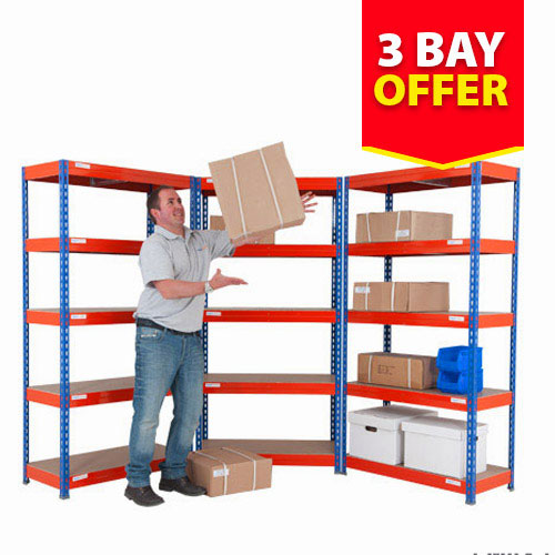Light Duty Shelving 3 Bay Deal (1800h x 900w)