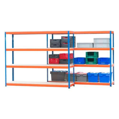 2 Bay Shelving Offer - 4 Shelves Per Bay HxW 1980hx2440mm