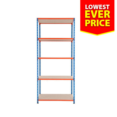 Shelving Bay HxW 1830x915mm With 5 Chipboard Shelves