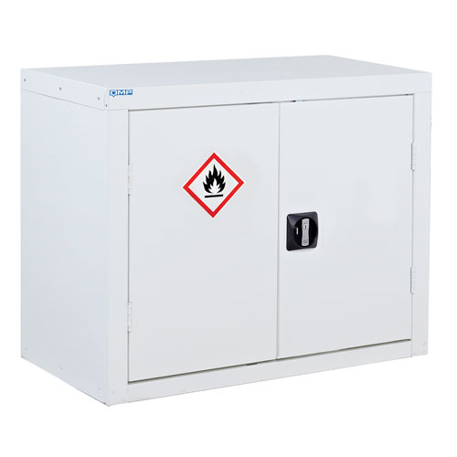 White Flammable Material Cupboard 700x900x460mm