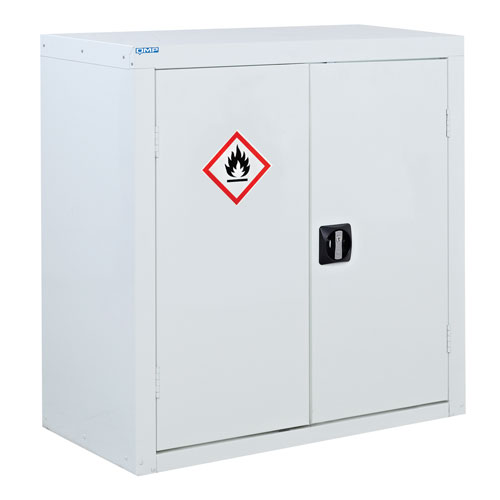 White Flammable Material Cupboard 900x900x460mm