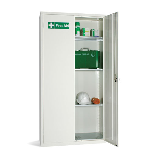 White First Aid Cabinet 1830x915x457mm