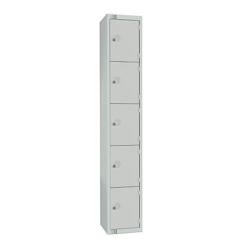 5 Door Antibac Locker 1800x300x450mm Cylinder Lock