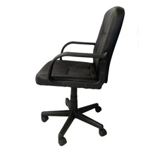 The chair comes with heavy duty arms & lumbar support