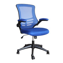 Mesh chair with blue backrest & seat