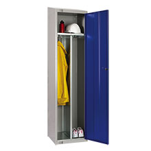 Clean and dirty locker with sloped top