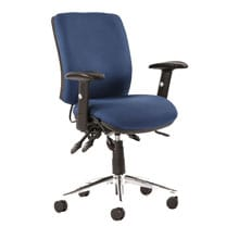 Chiro Med Back Posture Chair Blue