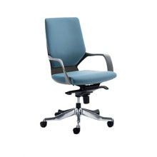 Peregrine Fabric Office Chair Black Shell Blue Fabric