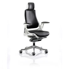 Varragill High Back Leather Chair Black with Headrest