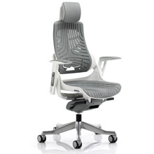 Zure Executive Chair Elastomer Grey with Headrest