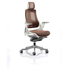 Zure High Back Mesh Office Chair Brown