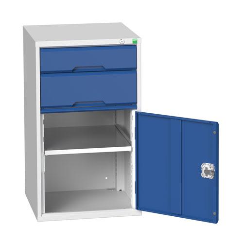 Bott Verso 1 Shelf 2 Drawer Combined Metal Tool Cabinet HxW 900x525mm