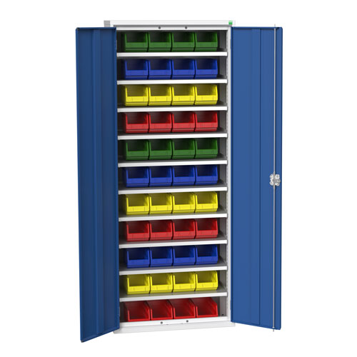Bott Verso Workshop Storage Cabinet With 44 Bins HxW 2000x800mm
