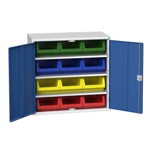 Bott Verso Workshop Storage Cabinet With 12 Bins HxW 1000x1050mm