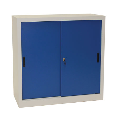 Manutan Sliding Door Cupboard - 1000x1000x650mm
